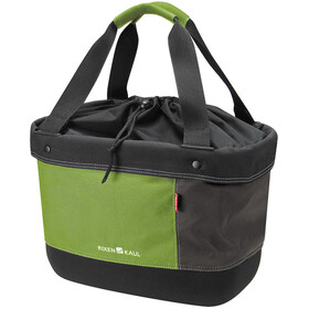KlickFix Shopper Alingo Bike Bag Laukku, green/brown
